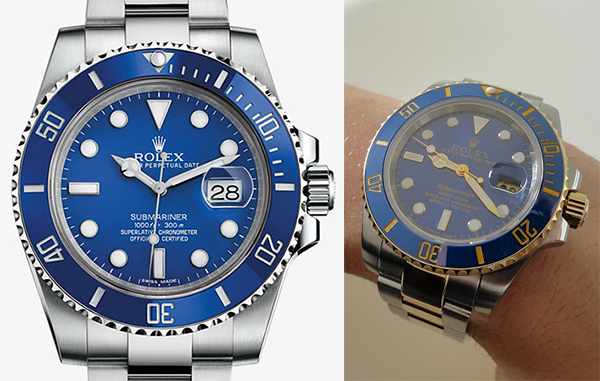 Differences-Between-Rolex-Submariner-Replica-Vs-Real-Blue-Two-Tone