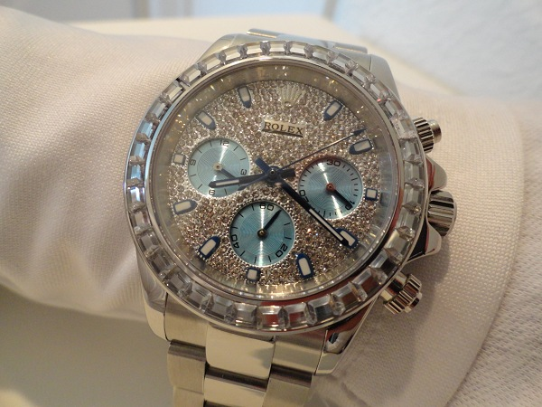 Rolex Daytona Diamonds Replica Watch Photo Review Wrist