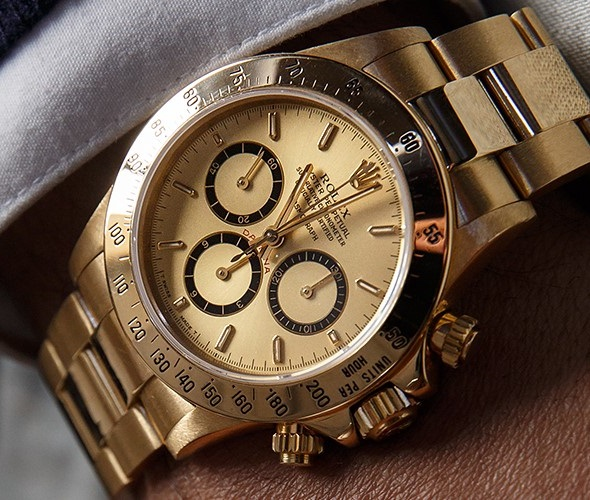 Rolex Daytona Replica Gold Case And Bracelet