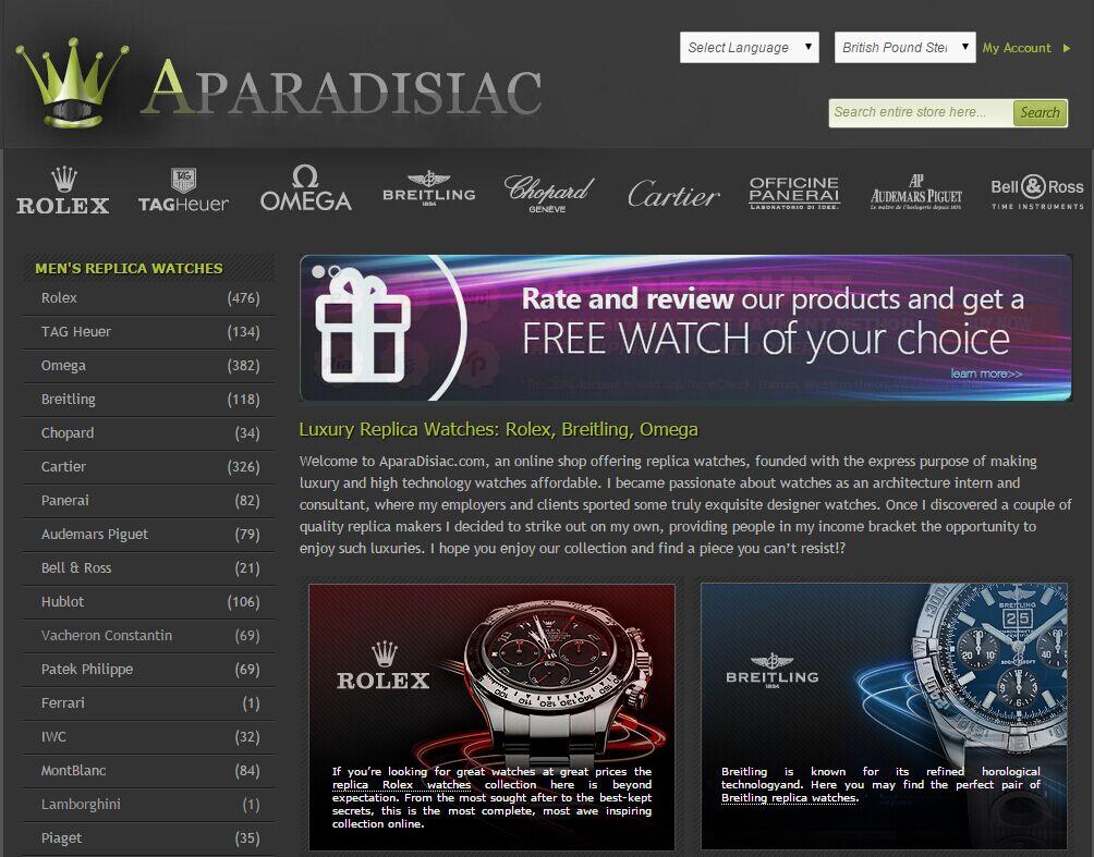 aparadisiac.com Review Best Replica Watch Site