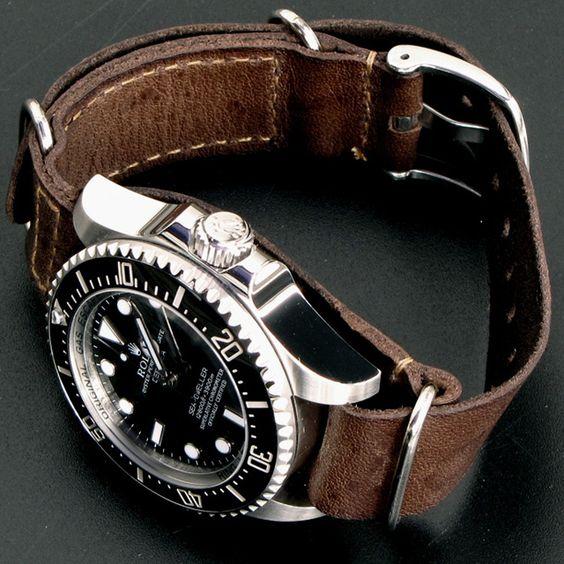 rolex sea-dweller deepsea leather replica watches