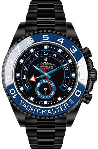 black replica rolex yacht-master ii black dial