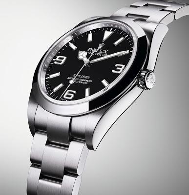 replica rolex new style luxury men's black dial 16570 explorer ii