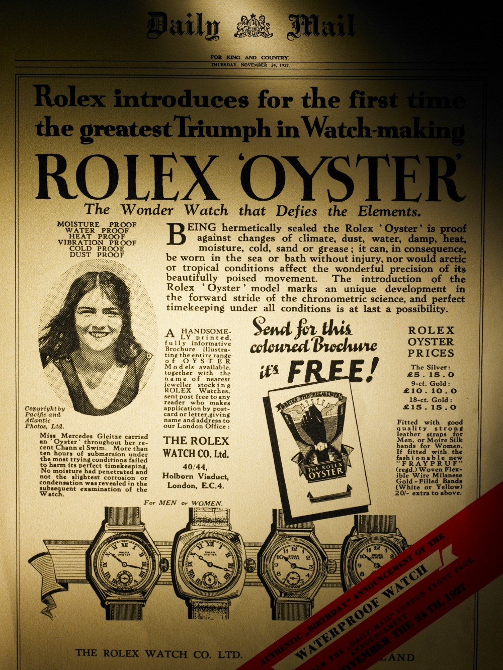 DAILY-MAIL-1927-Rolex-Oyster