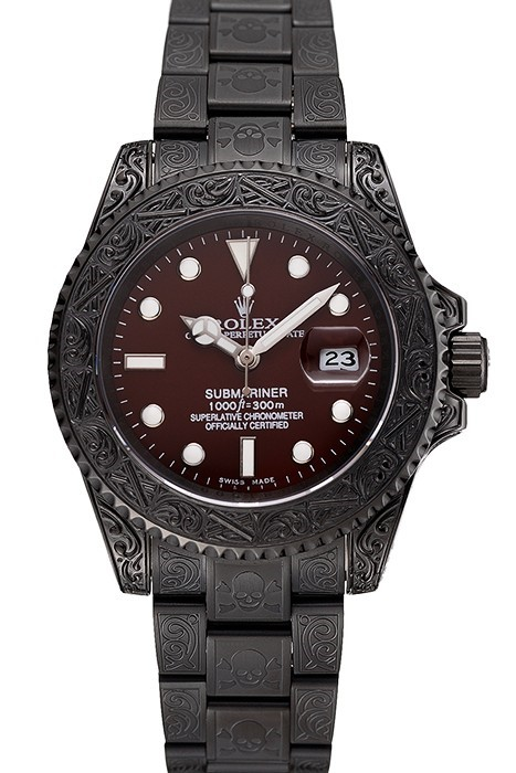 Rolex-Submariner-Black-Skull-Limited-Edition-Brown-Dial-Replica