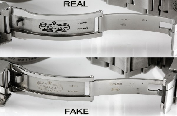 Rolex-DeepSea-Real-vs-Fake-buckle-etching