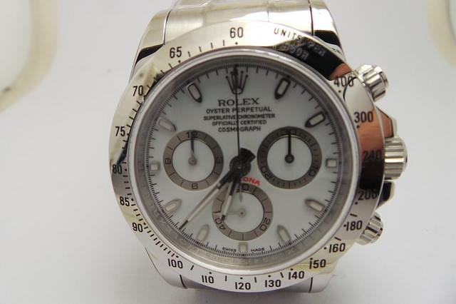 Rolex Daytona 116520 White Stainless Steel Replica Watch