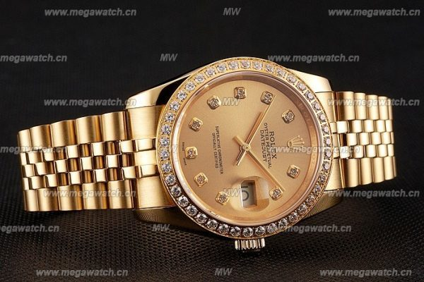 replica gold rolex with diamonds