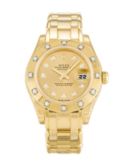 replica rolex pearlmaster rose gold luxury watch