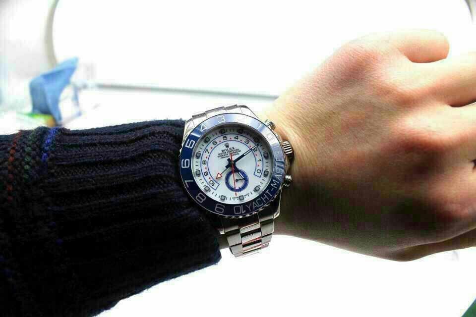 Replica Rolex Yacht Master II 116680 Wrist Shot