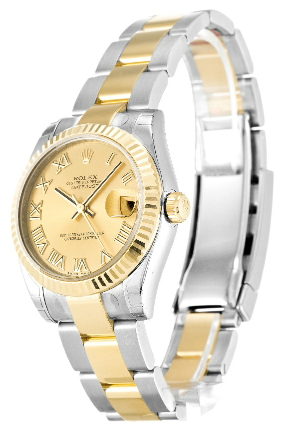Lady 31 MM Champagne Dial Replica Rolex Datejust Review