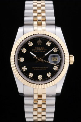 Black Dials Rolex Men's Datejust Replica