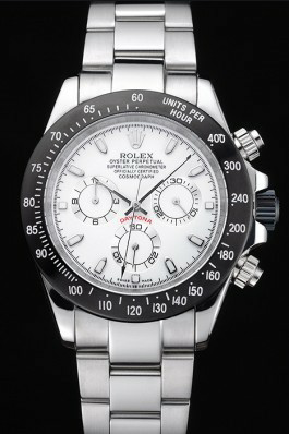 Rolex Daytona Stainless Steel Black Enamel White Dial Replica