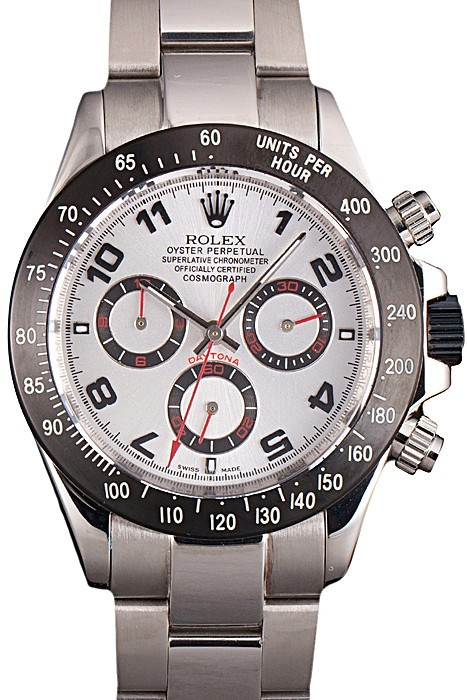 Stainless Steel White Dial Rolex Daytona Replica