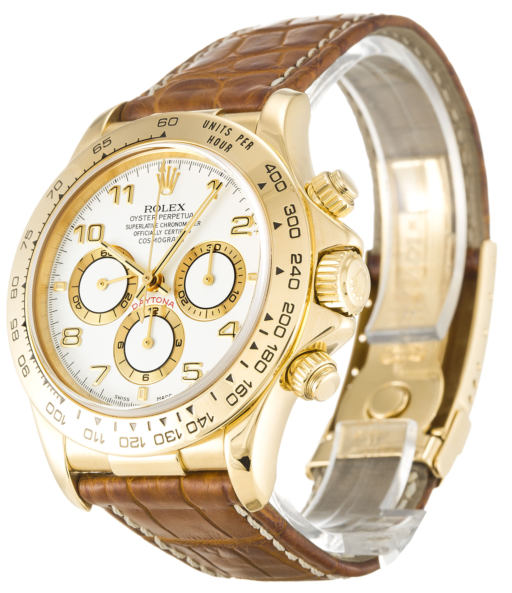 40MM Yellow Gold Rolex Daytona Replica Dial