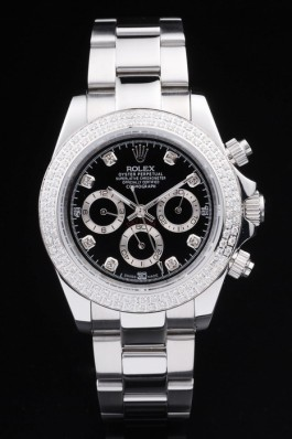 Stainless Steel Band Top Quality Rolex Silver Luxury Watch 1655095 Rolex Daytona Replica