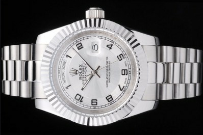 Silver Dial Mens Rolex Day Date Replica Review