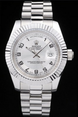 Silver Dial Mens Rolex Day Date Replica
